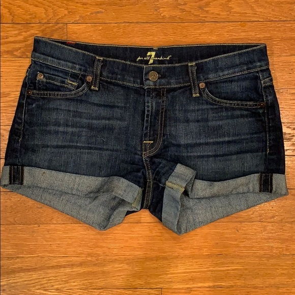 7 For All Mankind Pants - 7 for all mankind Jean Shorts